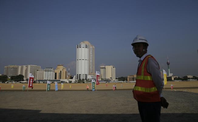 中國一帶一路計畫中的斯里蘭卡可倫坡港口城建設預定地。美聯社