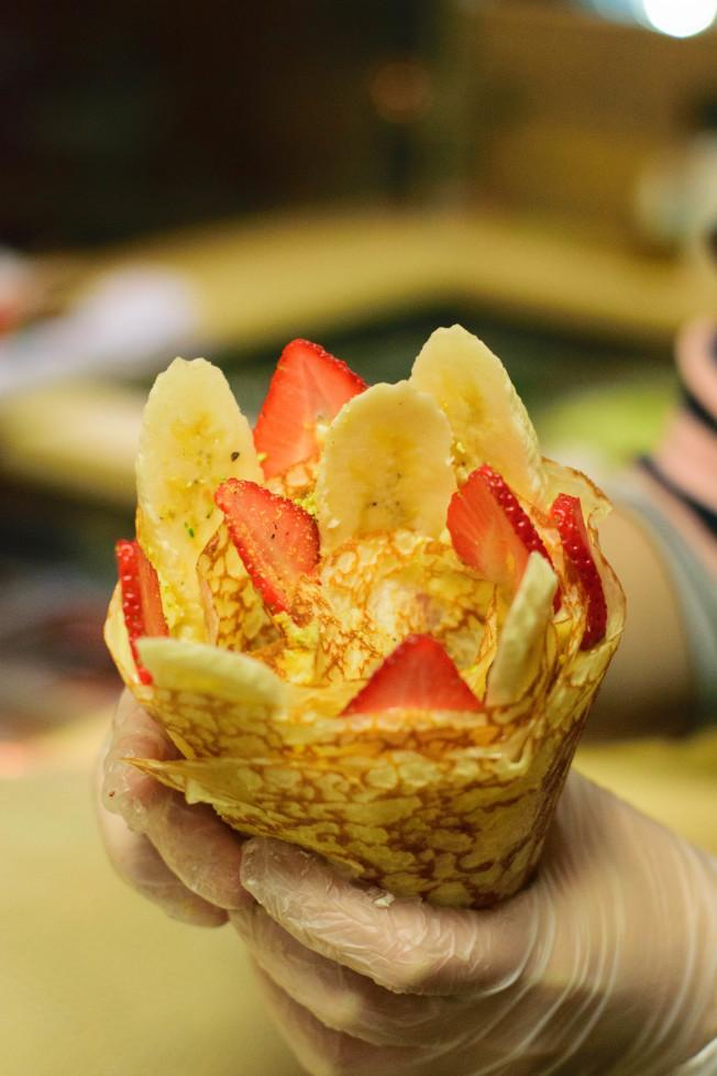 T-Swirl Crepe的甜日式可麗餅。(T-Swirl Crepe提供)