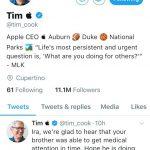 糗!川普誤稱「提姆蘋果」 庫克將錯就錯改推特名