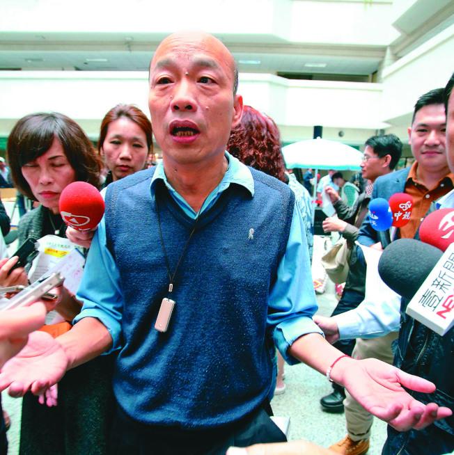 高雄市長韓國瑜指民進黨九合一選舉失利後,應思考改變。(記者劉學聖/攝影)