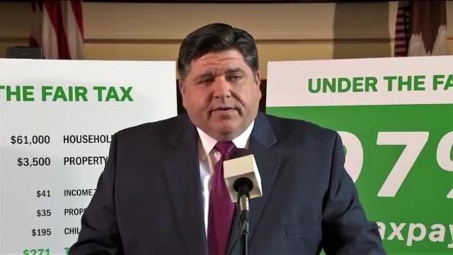 伊利諾州州長普立茲克7日公布新的所得稅制。(州長辦公室提供)