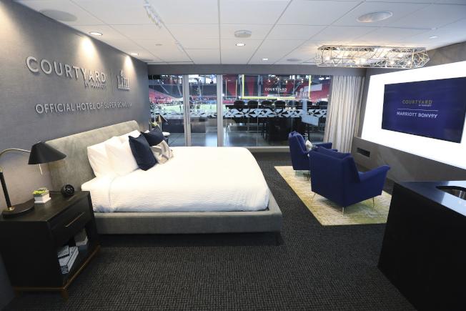 萬豪酒店對加盟店的房間設計有一定的要求。(美聯社)