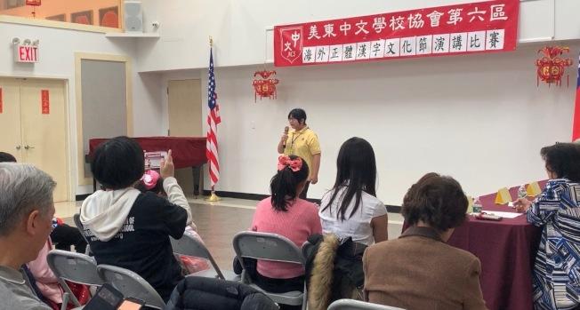 國語演講比賽共分低年級、中年級及高年級三組進行,學生需自訂題目並在限時內完成演講。(記者賴蕙榆/攝影)