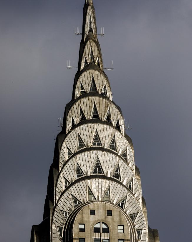 克萊斯勒上層的火炬式設計,是這棟大樓的名片。(歐新社)