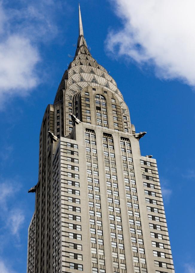 紐約曼哈頓克萊斯勒大樓,身價急劇縮水。(歐新社)