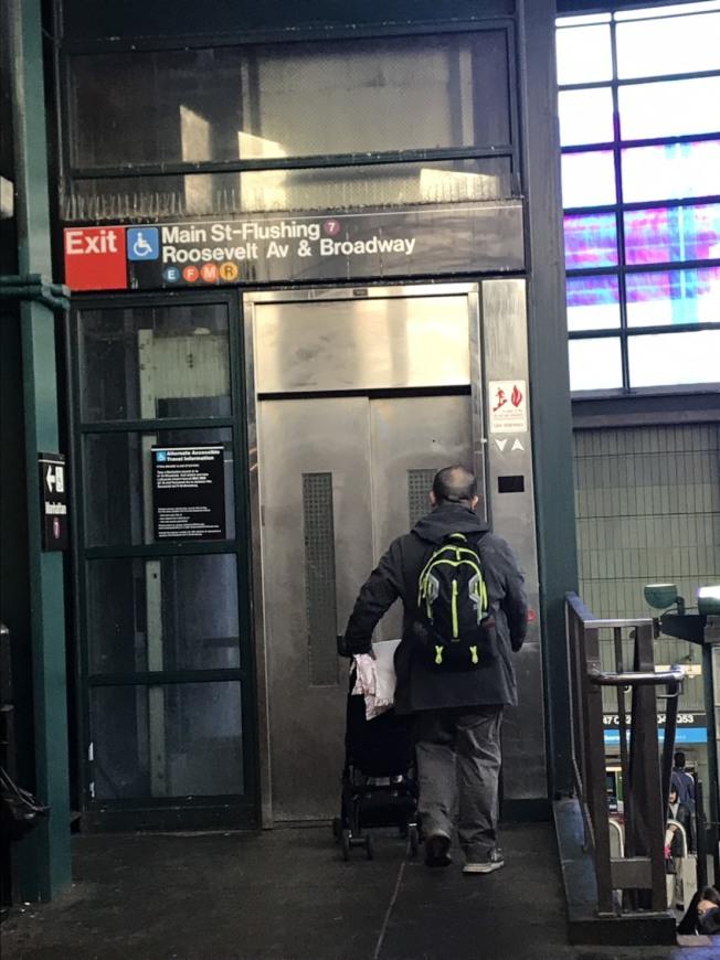 聯邦法院裁決,未來MTA若要翻新地鐵站,除非在「技術上不可行」,否則無論成本為何,都須安裝電梯。(記者顏嘉瑩/攝影)
