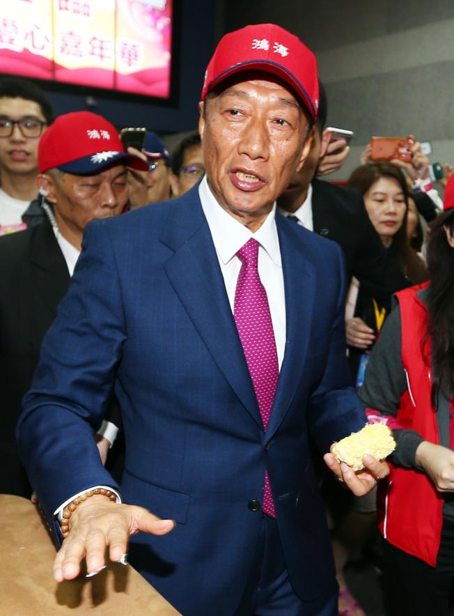 微軟公司以在台灣的鴻海集團違反專利授權協議為由,在加州的法院提起訴訟。圖為鴻海集團總裁郭台銘。(本報資料照片)