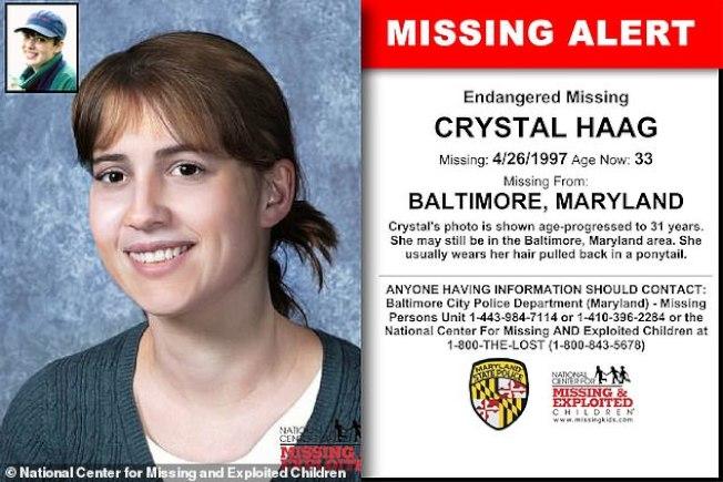 美国国家失踪与受虐儿童中心当年贴出寻人公告,年仅14岁的克莉丝朵在1997年失踪。取自国家失踪与受虐儿童中心