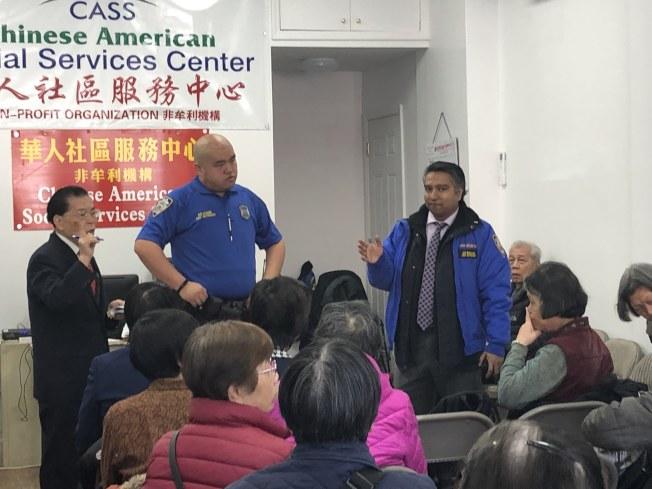 布碌崙華人社區服務中心13日舉辦社區安全講座,呼籲民眾保管好錢財。(記者顏潔恩╱攝影)