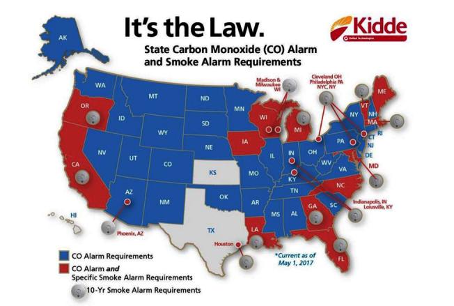 紐約州4月1日起,商家僅能提供十年更換一次電池的煙霧探測器。(取自Home Depot網站)