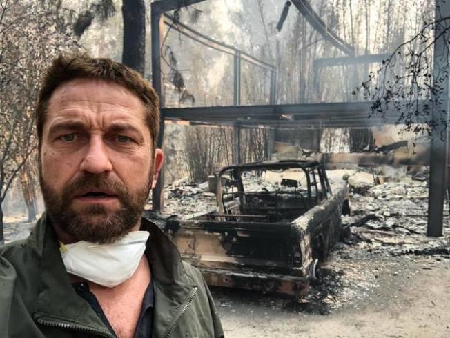 「300壯士」傑哈德巴特勒去年豪宅被燒毀。(取材自Instagram)