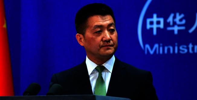 中國外交部發言人陸慷。(央視新聞微博照片)