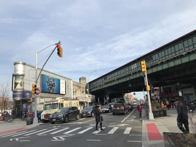 傑克森高地站所處的路段交通事故頻發。(記者劉大琪╱攝影)