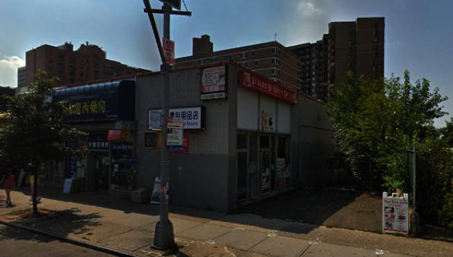 一名遊民在櫻桃大道交凱辛納大道遭到三人的暴打。(谷歌地圖截圖)