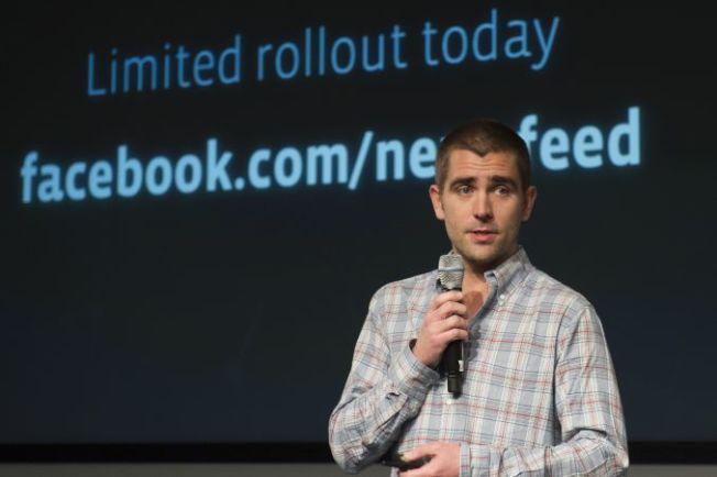 查克柏格14日宣布,臉書的產品長考克茲(Chris Cox)將離職。(Getty Images)