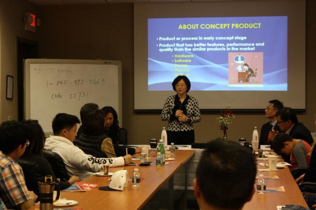 玉山科技大學生及研究生創意競賽由前理事長戴念華創立。(記者林昱瑄/攝影)