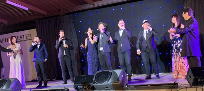 純人聲合唱團「闊樂集」在南海岸中華文化中心演出。(南海岸中華文化中心提供)