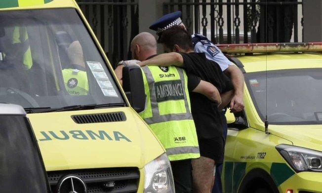 紐西蘭基督城市中心一座清真寺15日發生大規模槍擊案。美聯社