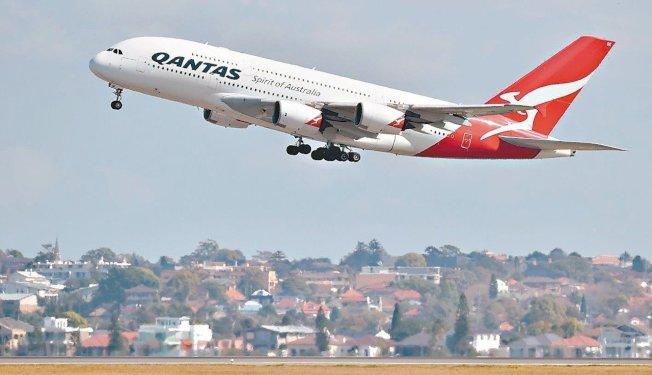 澳洲航空公司(Qantas Airways)。圖╱GettyImages
