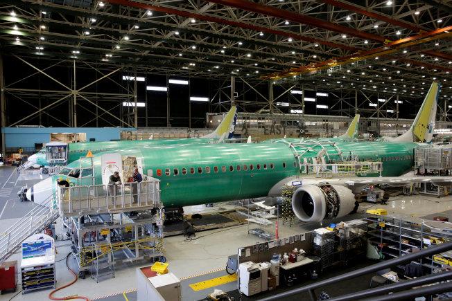 波音華盛頓州Renton廠,生產737 Max 9客機的檔案照片。  路透