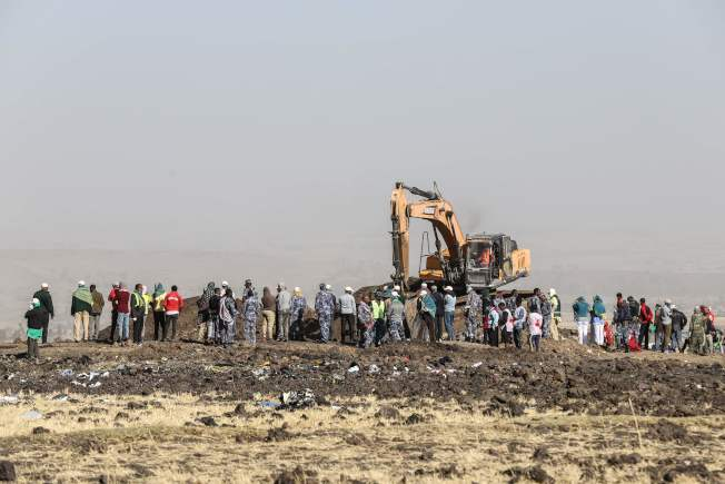 衣索比亞航空一架波音737 MAX 8客機10日墜毀,造成機上157人全數罹難。(Getty Images)
