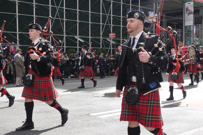 聖派翠克大遊行在曼哈頓舉行。(記者金春香/攝影)