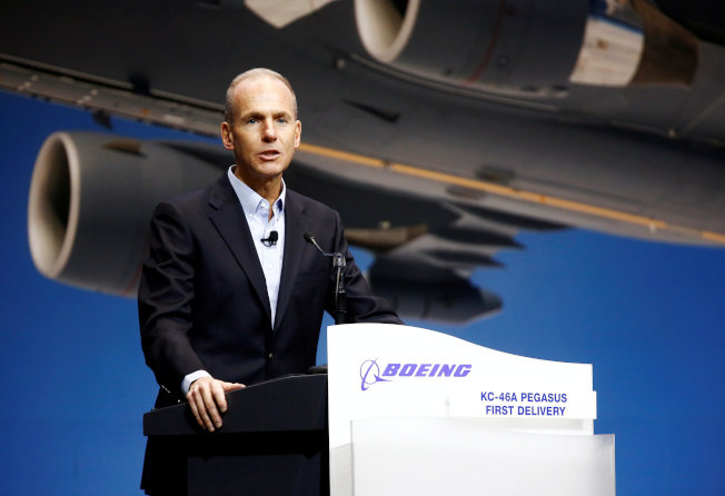 波音公司總裁兼執行長 Dennis Muilenburg,面臨上任來的最大營運危機。(Getty Images) Photo