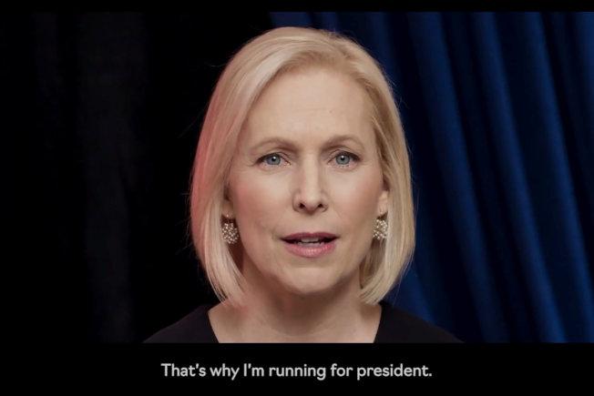 紐約州聯邦參議員陸天娜17日以網路方式,正式宣布投入民主黨總統提名初選。(路透)