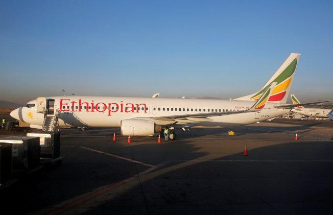 這架衣索匹亞航空公司停飛的波音737 MAX 8的航機。(路透)