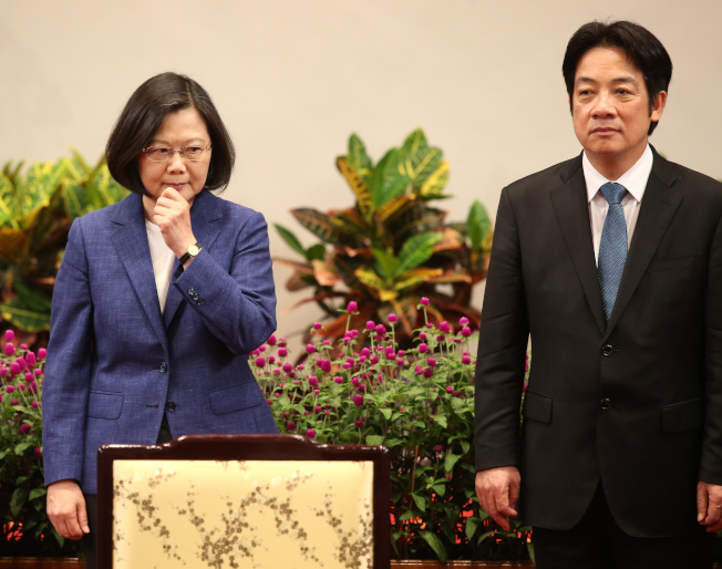 賴清德(右)將參選民進黨總統黨內初選,挑戰蔡英文。(聯合報系資料照片)