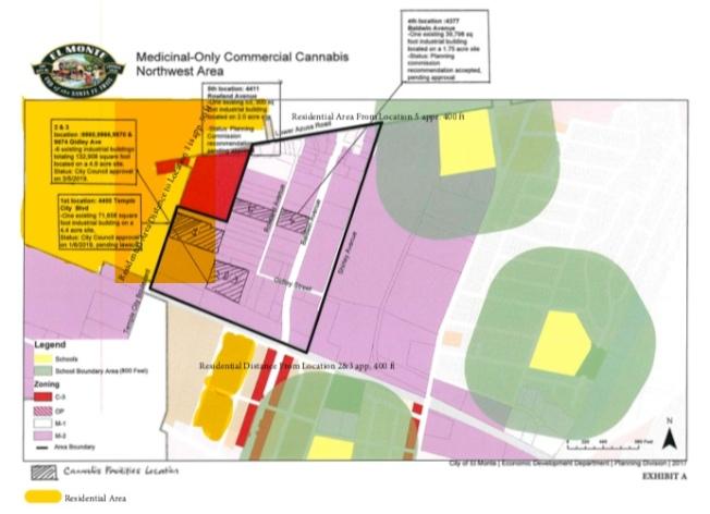 大麻工廠與附近三所學校位置相對圖。(記者林佩錦/攝影)