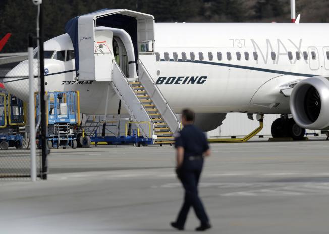 波音737 MAX系列客機。美聯社