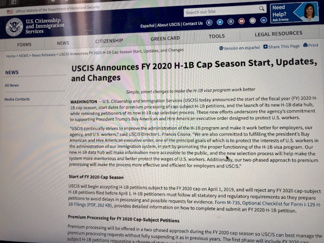 受理H-1B申請USCIS重啟加急處理- 世界新聞網