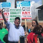 高人氣民主黨總統參選人桑德斯支持加大系統工會罷工