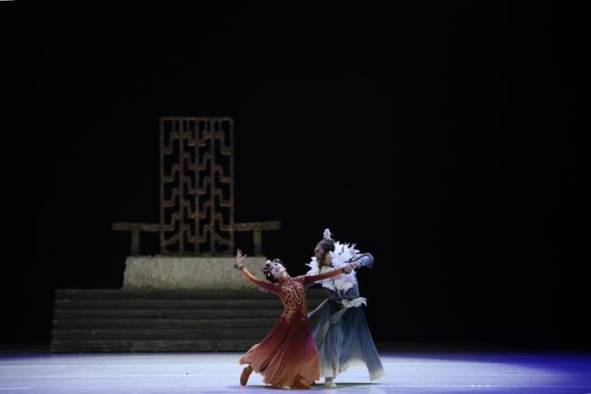 中國歌劇舞劇院舞劇「昭君出塞」在曼哈頓林肯中心上演。(記者洪群超/攝影)