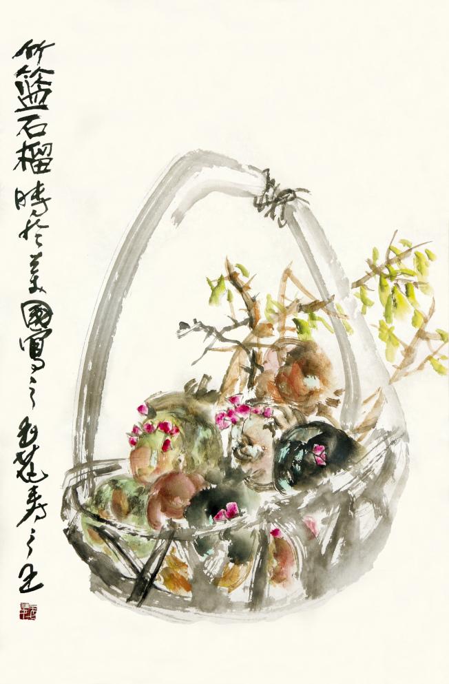 竹籃石榴。