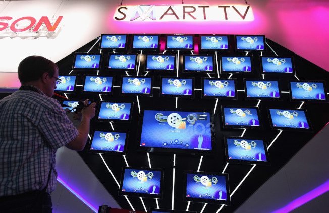 目前的智慧電視可收集與用戶觀看習慣有關的數據。( Getty Images)