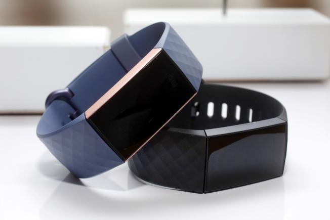 Fitbit數位健康追蹤器。(美聯社)