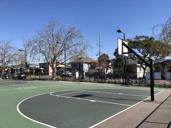 聖巴布洛公園去年8月曾發生槍擊事件,三人受傷,嫌疑人在今年2月末被警方逮捕。(記者劉先進╱攝影)