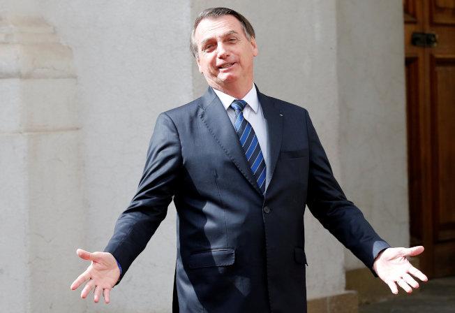 巴西總統波索納洛。(路透)