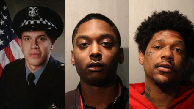 左起:身亡警員瑞維拉、兇嫌傑克森、巴特爾。(警方提供)