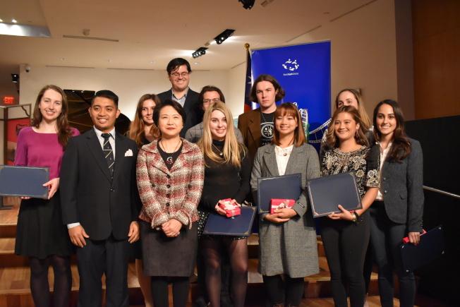 世界青年聯盟與駐紐約台北經濟文化辦事處連續七年合辦「2019年曼哈頓國際影展暨開幕酒會」。(記者顏嘉瑩/攝影)