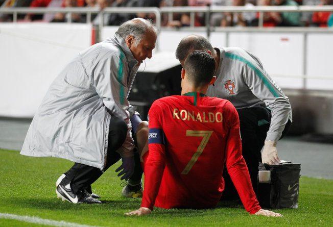 歐國杯/C羅拉傷大腿 31分鐘就退場
