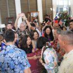 蔡英文過境夏威夷 僑胞熱情歡迎