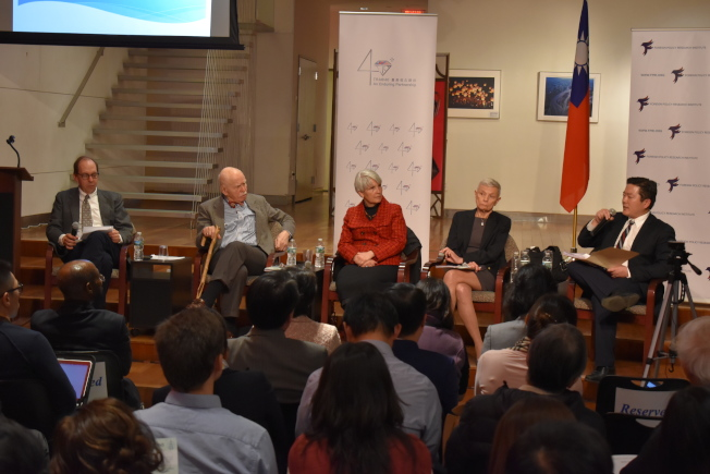 由駐紐約台北經濟文化辦事處與費城「外交政策研究所」合辦的「『台灣關係法』立法40周年:台美關係之恆久架構研討會」,於27日在曼哈頓中城舉辦。(記者顏嘉瑩/攝影)