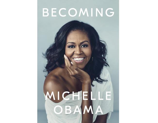 米雪兒‧歐巴馬的自傳《Becoming》(蛻變)一經推出即登上暢銷榜。(美聯社)