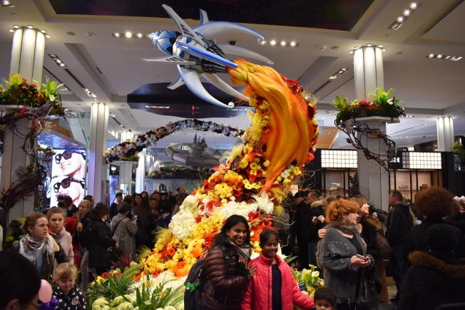 梅西百貨國際花卉展是紐約一年一度的春季盛事。(記者顏嘉瑩/攝影)