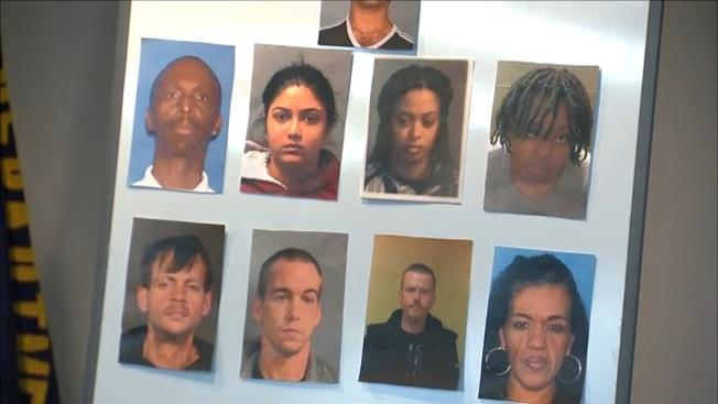 新澤西州警方周四宣布偵破跨州偷竊團夥。(警方提供)