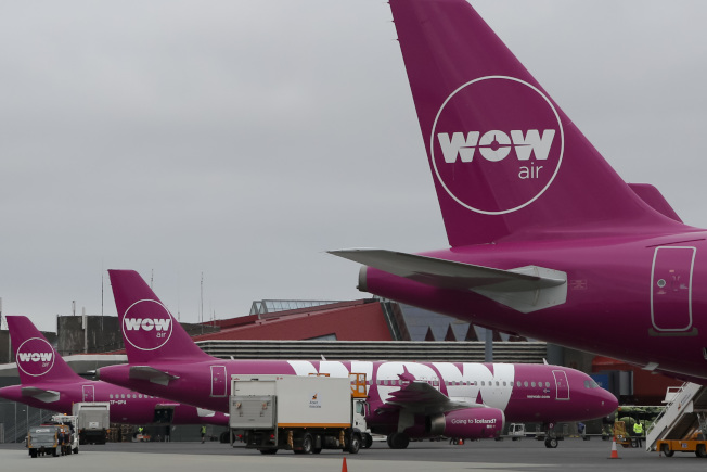 冰島廉價航空公司「WOW Air」無預警停業。(TNS)