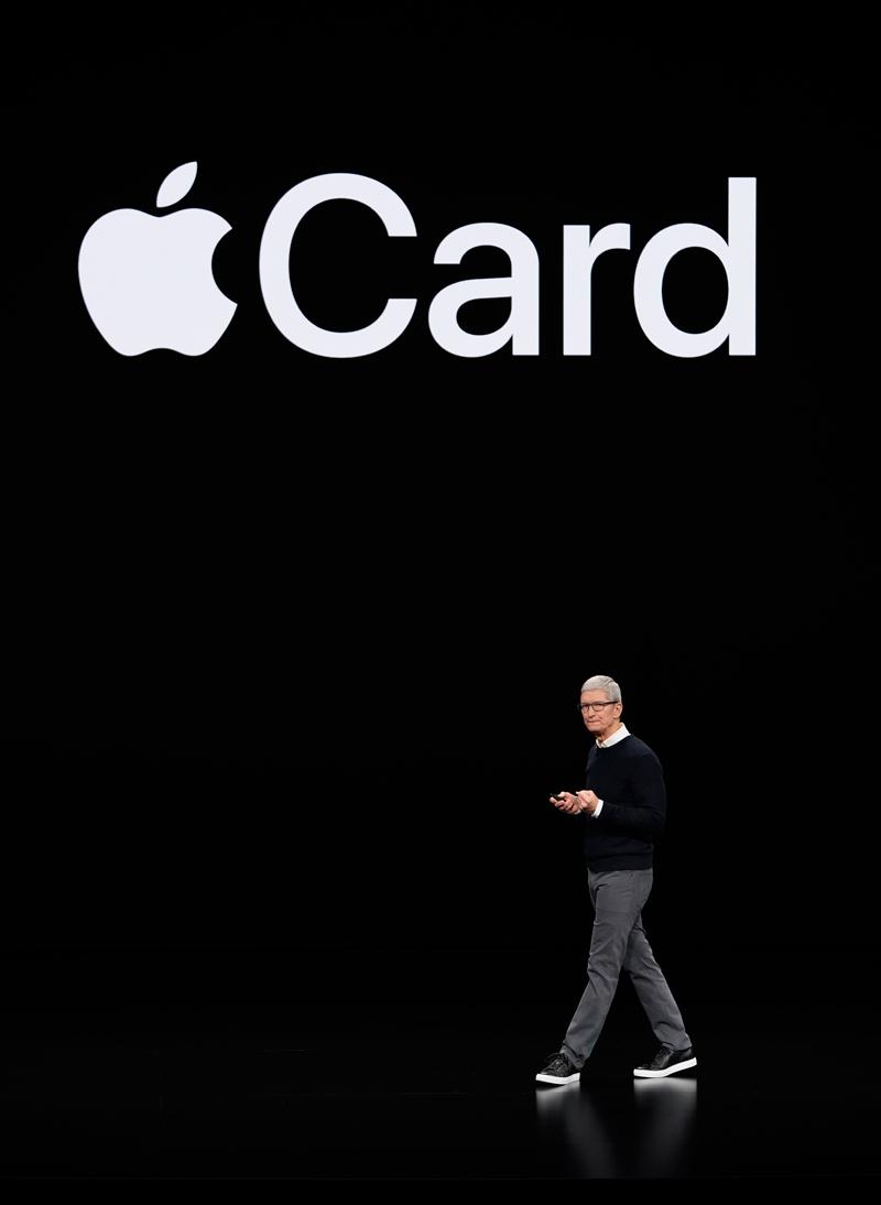 蘋果執行長庫克發表虛擬信用卡服務「Apple Card」。美聯社